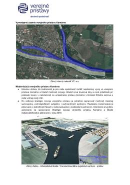 Vymedzené územie verejného prístavu Komárno Zdroj: interný