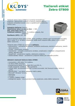 Tlačiareň etikiet Zebra GT800