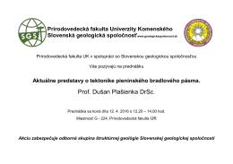 Pozvánka na prednášku prof. D. Plašienku 12.4. 2016.