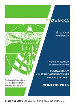 SStVTS - CONECO 2016 pozvanka.indd