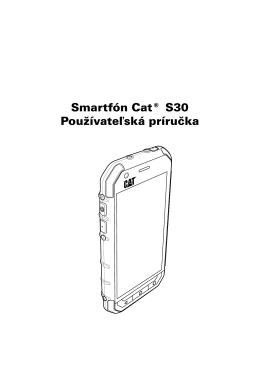 Smartfón Cat® S30 Používateľská príručka