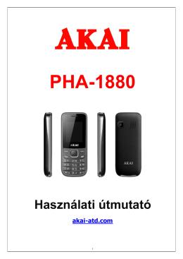 AKAI PHA 1880 teljes használati utasítás