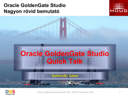 Oracle GoldenGate Studio