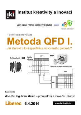 QFD I. - IKI - Institut kreativity a inovací