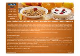 pracovněprávní snídaně na téma ukládání povinností zaměstnancům