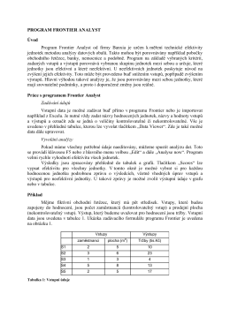 PROGRAM FRONTIER ANALYST Úvod Program Frontier Analyst od