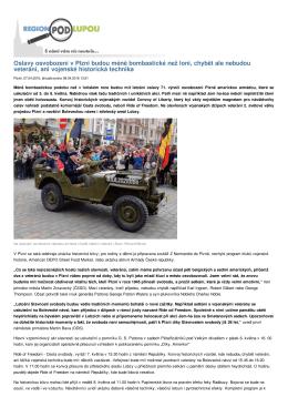 Oslavy osvobození v Plzni budou méně bombastické než loni