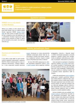 PDF Zpravodaj DEMAS 1/2016