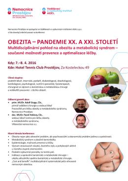 obezita – pandemie xx. a xxi. století