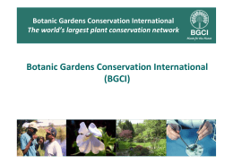 Botanic Gardens Conservation International (BGCI)