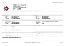 rozvaha - bilance - Velké Svatoňovice