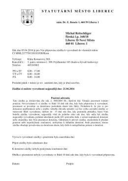 Dokument - Statutární město Liberec