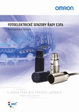 fotoelektrické senzory řady e3fa