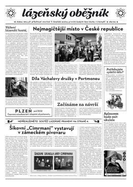 Lázeňský oběžník 2014