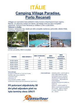 Camping Village Paradise, Porto Recanati