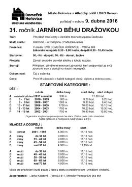 propozice - Domeček Hořovice