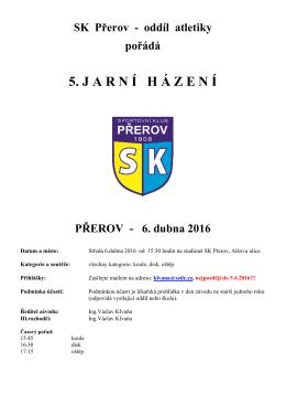 zde - Atletika SK Přerov