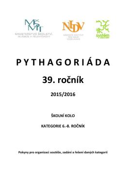 Zadání a řešení školního kola Pythagoriády – 6.