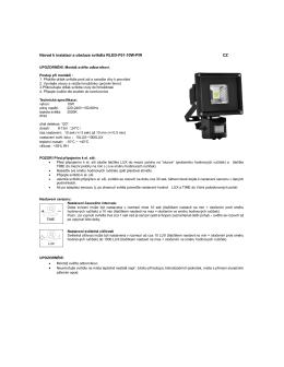 Návod k instalaci a obsluze svítidla RLED-F01 - Moje