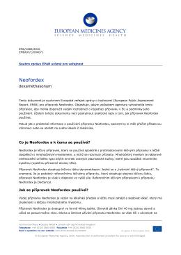 Neofordex, INN-dexamethasone