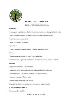 ZDE - Dětský lesní klub Stromík