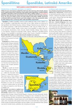Španělština Španělsko, Latinská Amerika