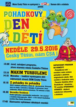 plakát - Oficiální stránky Města Český Těšín