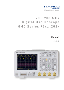 70...200 MHz Digital Oscilloscope HMO Series 72x
