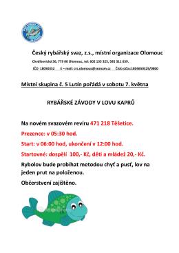 Rybářské závody Těšetice