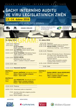 13. - 14. dubna 2016 - Český institut interních auditorů