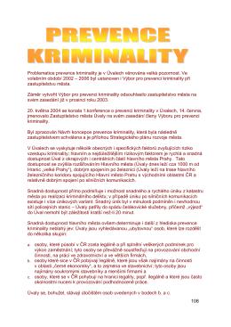 Problematice prevence kriminality je v Úvalech věnována velká