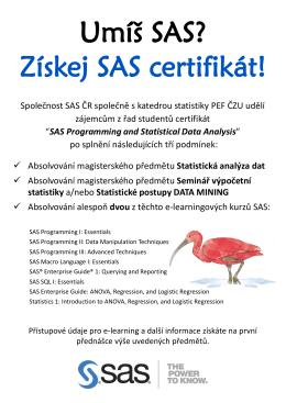 Umíš SAS? Získej SAS certifikát!