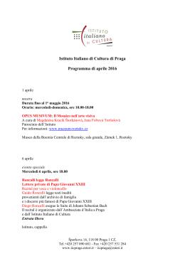Poslední Program - Istituto Di Cultura