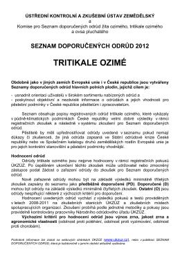 Tritikale ozimé (SDO)