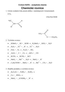 Chemické rovnice