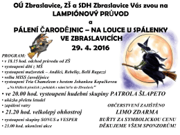 Pálení čarodějnic - Obec Zbraslavice