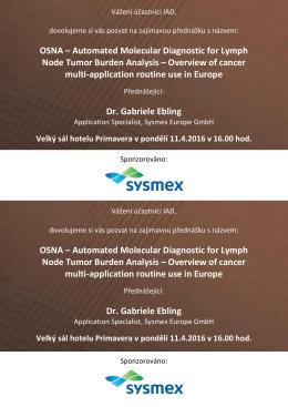 Pozvánka Sysmex