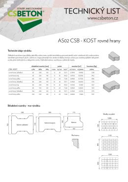 Technický list CSB - KOST rovné hrany
