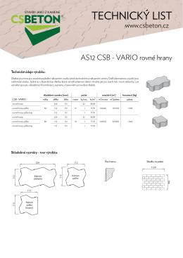 Technický list CSB - VARIO rovné hrany