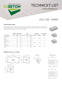 Technický list CSB