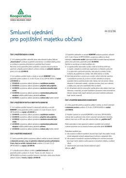 Smluvní ujednání pro pojištění majetku občanů (M111-16)