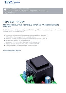 TYPE EM-TRF-USV