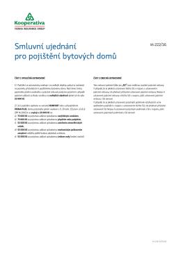 Smluvní ujednání pro pojištění bytových domů (M222-16)
