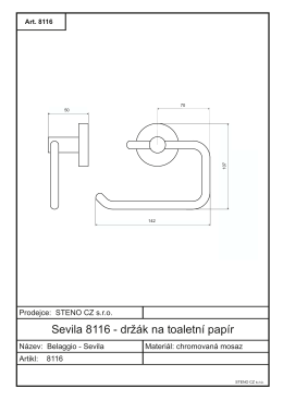 technický výkres 8116