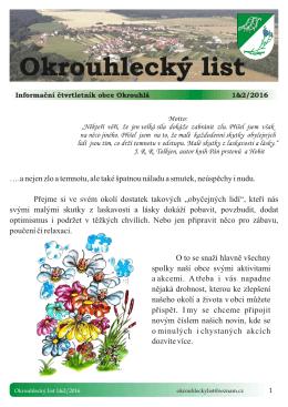Nový Okrouhlecký list 1-2-2016 zde