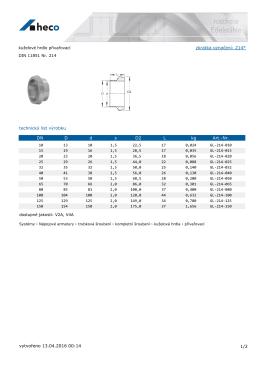 kuželové hrdlo přivařovací DIN 11851 Nr. 214