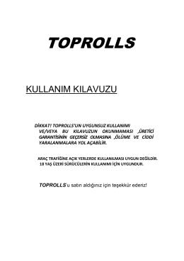Kullanım - Toprolls Elektrikli Kaykay