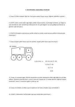 İzo Açıklamalı Cevaplar - Ortaokul
