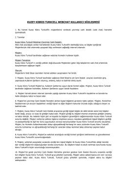kuzey kıbrıs turkcell webchat kullanıcı sözleşmesi