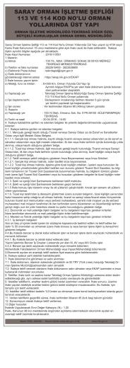 9 Nisan 2016 SARAY ORMAN İŞLETME ŞEFLİĞİ 113 VE 114 KOD